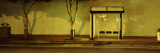 Bus Stop at Night  San Francisco  California  USA
