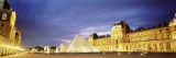 Light Illuminated in the Museum  Louvre Pyramid  Paris  France