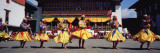 Folk Dancers Dancing at a Festival  Thimphu Tshechu  Thimphu  Bhutan
