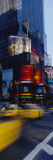 Traffic on a Street  Times Square  Manhattan  New York  USA