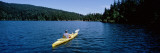 Man on a Kayak in a Lake  Orcas Island  Washington State  USA