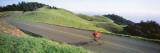 Man Riding a Bicycle  Bolinas Ridge  Marin County  California  USA
