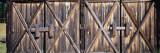 Closed Doors of a Barn  Montana  USA
