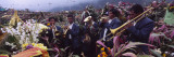 Musicians Celebrating All Saint's Day by Playing Trumpet  Zunil  Guatemala