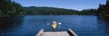 Man on a Kayak in a River  Orcas Island  Washington State  USA