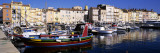Boats Moored at a Dock  St Tropez  Provence  France