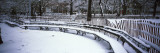 Snowcapped Benches in a Park  Washington Square Park  Manhattan  New York  USA