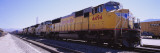 Freight Train on Railroad Tracks  California  USA
