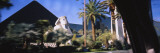 Sphinx in Front of a Pyramid at a Hotel  Luxor Hotel  Nevada  USA
