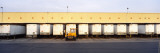 Vehicle Trailers in a Row Parked at a Terminal  Barstow  California  USA