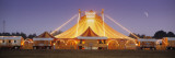 Circus Lit Up at Dusk  Circus Narodni Tent  Prague  Czech Republic