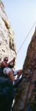 Rock Climber  Rocky Mountain National Park  Colorado  USA