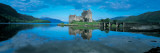 Reflection of a Castle in Water  Eilean Donan Castle  Loch Duich  Highlands  Scotland