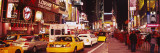 Cars on the Road  Times Square  Manhattan  New York City  New York  USA