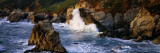 Waves Breaking on Rocks at the Coast  Garrapata State Park  Big Sur  California  USA