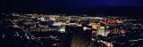 City Lit Up at Night  the Strip  Las Vegas  Nevada  USA