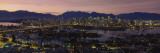 Aerial View of Vancouver Lit Up at Dusk  British Columbia  Canada