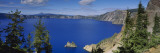 Lake Surrounded by Mountains  Crater Lake National Park  Crater Lake  Oregon  USA