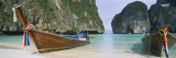 Longtail Boats Moored on the Beach  Mahya Beach  Ko Phi Phi Lee  Phi Phi Islands  Thailand