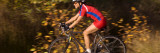 Woman Riding a Sports Bicycle  Bainbridge Island  Washington State  USA