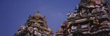 Statues of Hindu Gods on the Roof of Arulmigu Kapaleeswarar Temple  Chennai  Tamil Nadu  India
