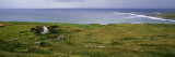 Coastal Landscape with White Stone House  Galway Bay  the Burren Region  Ireland