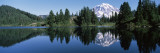 Reflection of a Mountain in a Lake  Mt Rainier  Mt Rainier National Park  Pierce County
