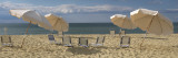 Deck Chairs and Beach Umbrellas on the Beach  Jetties Beach  Nantucket  Massachusetts  USA