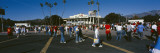 Group of People Walking Outside a Stadium  Rose Bowl Stadium  Pasadena  Los Angeles County