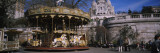 Carousel in Front of a Basilica  Basilique Du Sacre Coeur  Montmartre  Paris  Ile-De-France  France