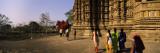 Tourist in a Temple  Khajuraho Temple  Khajuraho  Chhatarpur District  Madhya Pradesh  India