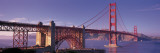 Suspension Bridge at Dusk  Golden Gate Bridge  San Francisco  Marin County  California  USA