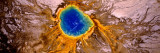 Aerial View of a Hot Spring  Grand Prismatic Spring  Yellowstone National Park  Wyoming  USA