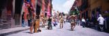 Aztec Street Dancers Dancing on the Street  San Miguel de Allende  Guanajuato  Mexico