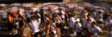 Crowd Participating in a Marathon Race  Bay Bridge  San Francisco  California  USA