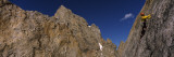 Man Climbing Up a Mountain  Grand Teton  Grand Teton National Park  Wyoming  USA