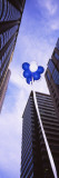 View of Balloons Floating Between Buildings  San Francisco  California  USA