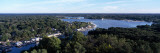 Aerial View of a Lake  Kalamazoo Lake  Saugatuck  Allegan County  Michigan  USA