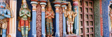 Statues of Hindu Gods Carved in a Temple  Tiruchirapalli  Tamil Nadu  India