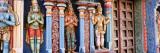 Statues of Hindu Gods Carved in a Temple  Tiruchirapalli  Tamil Nadu  India