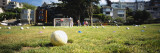 Soccer Balls in a Soccer Field  San Francisco  California  USA