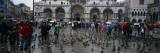 Tourists at a Town Square  St Mark's Square  Venice  Veneto  Italy