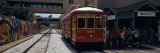 Cable Car on Tracks  Poydras Street  New Orleans  Louisiana  USA