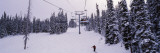 Ski Lift Passing over a Snow Covered Landscape  Keystone Resort  Keystone  Colorado  USA
