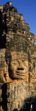 Face Carved on Rocks in a Temple  Bayon Temple  Angkor  Cambodia