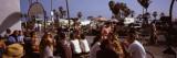Tourists in Beach Cafe  Venice Beach  Venice  Los Angeles  Los Angeles County  California  USA