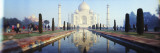 Reflection of a Mausoleum in Water  Taj Mahal  Agra  Uttar Pradesh  India