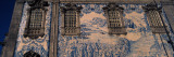 Detail of Azulejo Art on the Wall of a Church  Carmo Church  Porto  Portugal