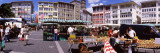 Group of People in a Street Market  Stuttgart  Baden-Wurttemberg  Germany