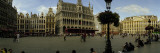 People Relaxing in a Market Square  Grand Place  Brussels  Belgium